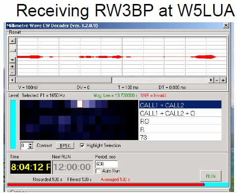 Receiving RW3BP at W5LUA